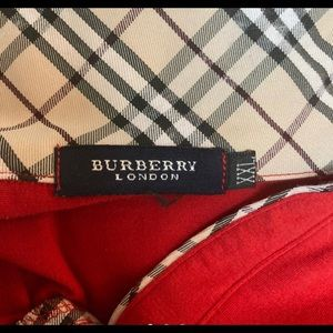 Authentic Red Burberry Golf Shirt